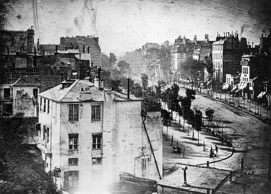 1838,Louis Daguerre,Boulevard du Temple,boulevard du Temple,Paris,France