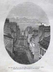 1848, Barricade, rue Saint-Maur, Paris, Gallica