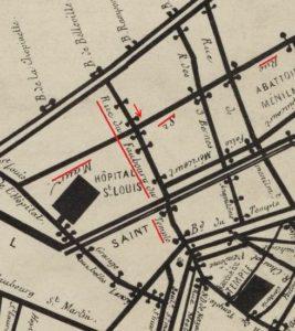 1848, Plan des barricades, Paris, Gallica