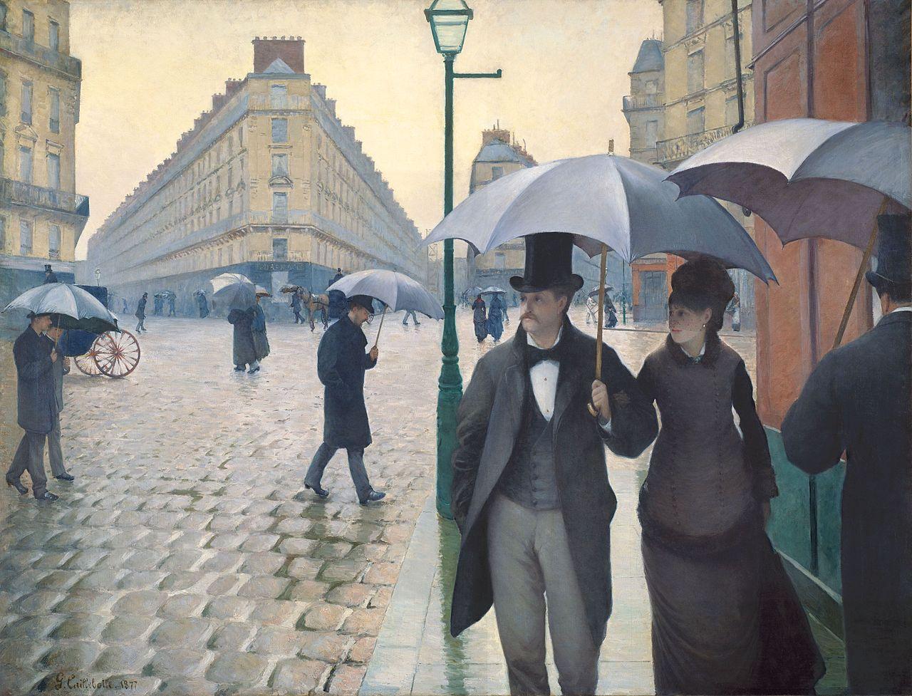 1877,Gustave Caillebotte,Rue de Paris, temps de pluie,place de Dublin,Paris,France