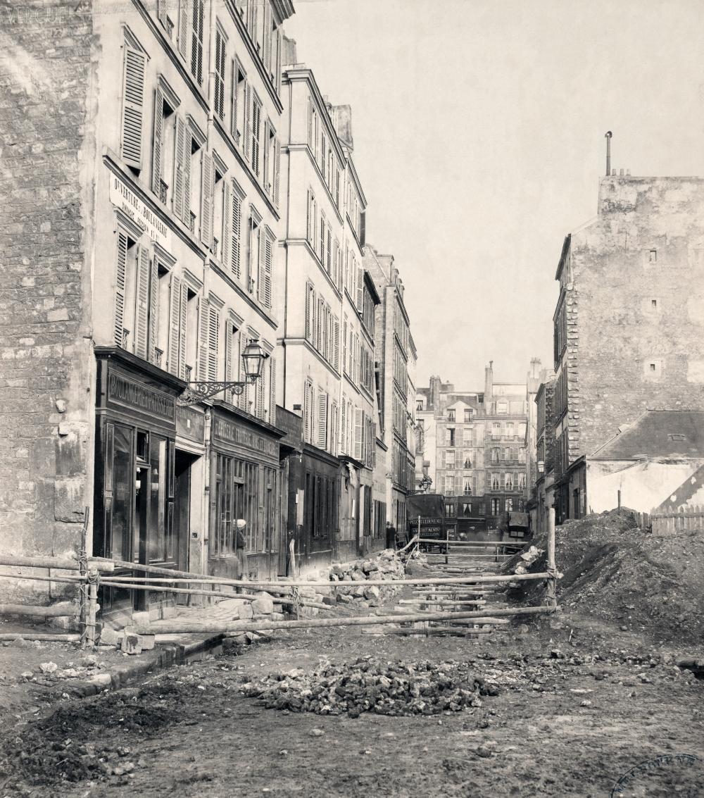 1876,Charles Marville,rue Castex,rue Castex,Paris,France