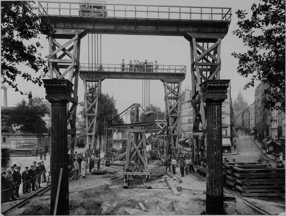1901,UPF,Metro Parisien – Viaduc boulevard de la Chapelle,boulevard de la Chapelle,Paris,France