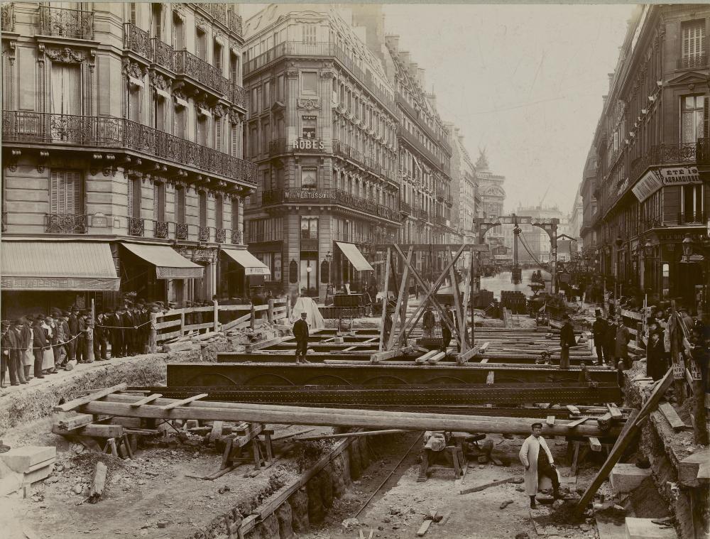 1903,UPF,Métro parisien – Percement ligne 3 rue Auber,14, rue Auber,Paris,France