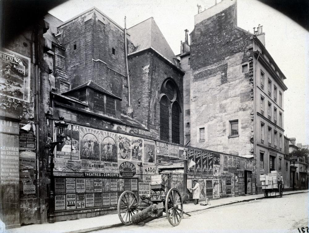 1898,Eugène Atget,rue de l'Abbaye – l'afficheur,9, rue de l'Abbaye,Paris,France