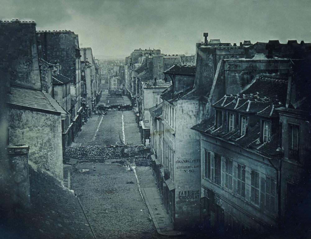 1848,Thibault,Barricade de la rue Saint Maur – Popincourt,rue du Faubourg du Temple,Paris,France
