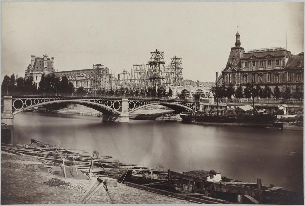1865,Anonyme,Le Louvre – Aménagement de la galerie du bord de l'eau,12, quai François Mitterand,Paris,France