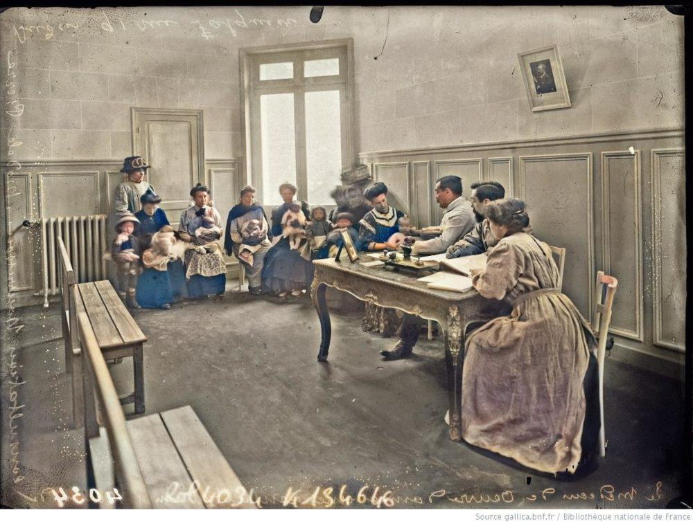 1909, Agence Rol, Consultation des nourrissons, Fondation Pierre Budin , Gallica