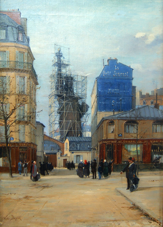 1884,Victor Dargaud,Statue de la Liberté,rue Chazelles,Paris,France