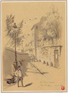 Maison de Balzac en 1895 par Jules-Adolphe Chauvet - source Gallica