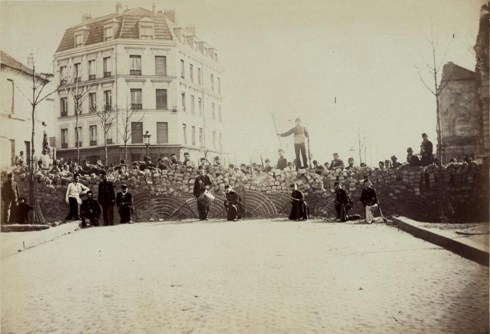 1871,Anonyme,Barricade du boulevard Puebla,268, rue des Pyrénées,Paris,France