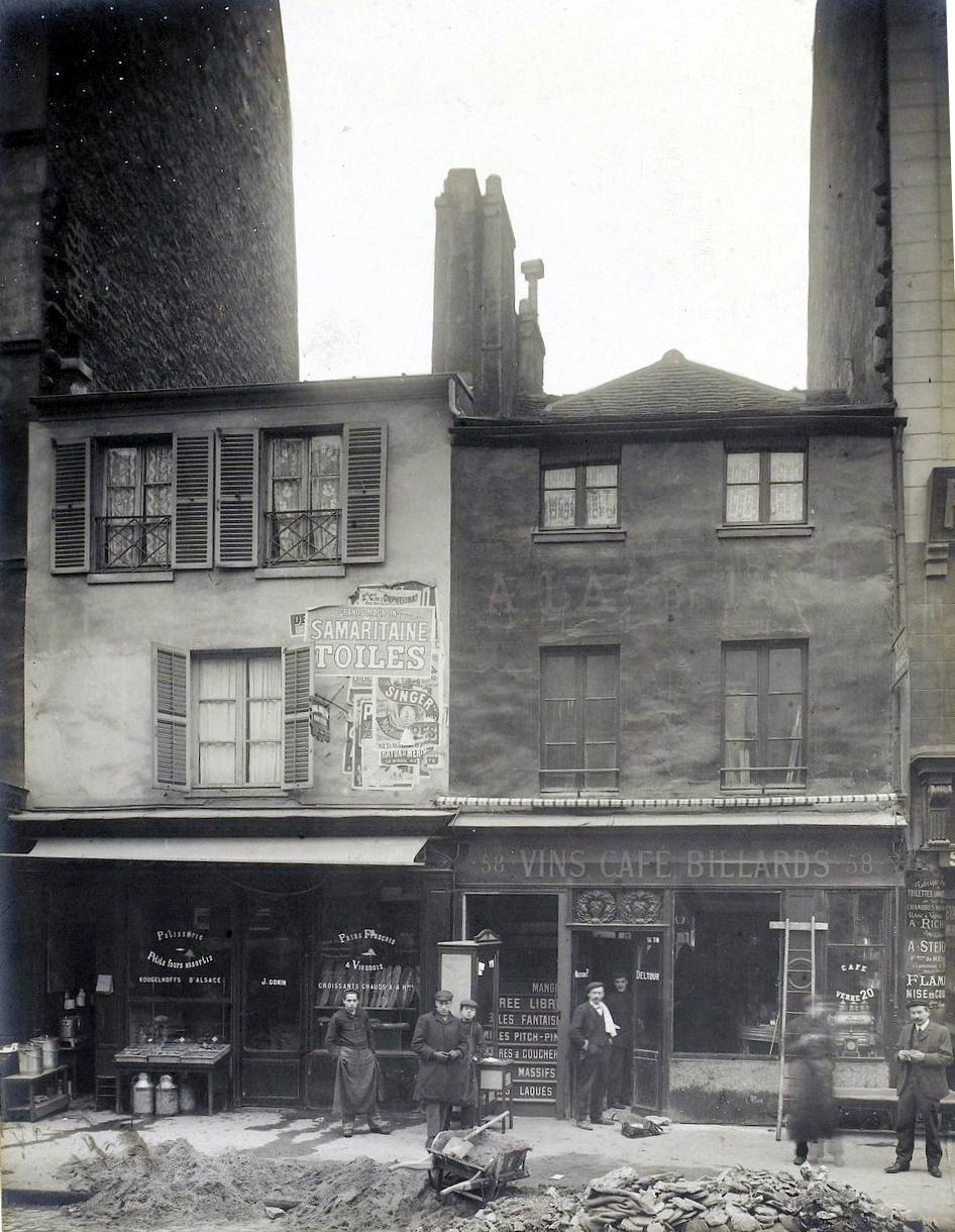 1908,Jean Barry,Vieilles maisons, rue du Faubourg Saint-Antoine,56, rue du Faubourg Saint-Antoine,Paris,France