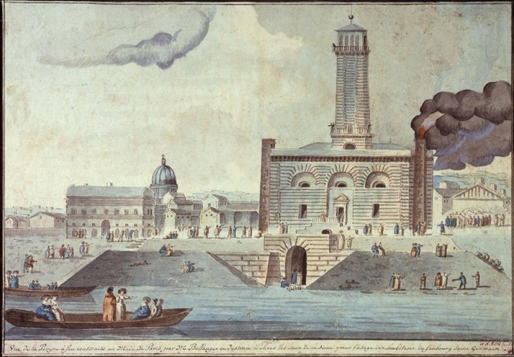 Anonyme, pompe à feu du Gros-Cailloux, 1790-1810, Paris, Musée Carnavalet